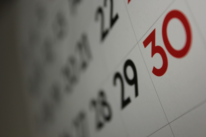 Mais importante do que agendar seus compromissos é criar um calendário para a sua saúde!