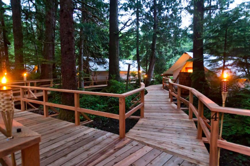 Paz e tranquilidade na área externa do resort