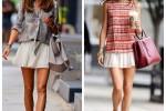 A mesma saia plissada em duas versões!