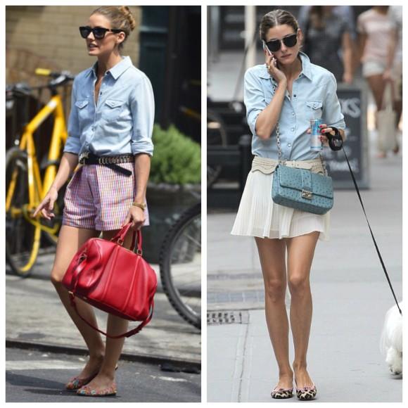 Uma camisa jeans, dois looks diferentes!