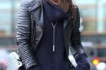 Camila Coelho usa e abusa do azul marinho com preto