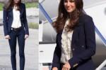 Kate Middleton também adora um conjuntinho azul marinho!