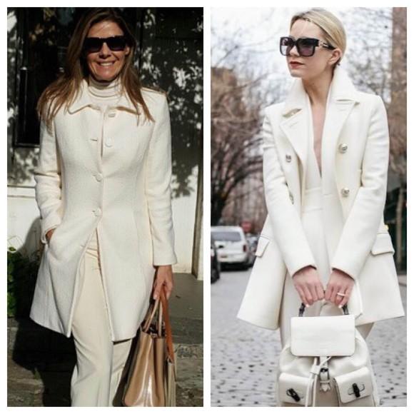 Casacos brancos são clássicos e caem superbem. Eu adoro!