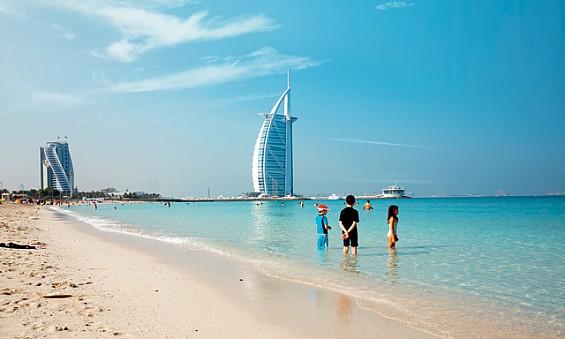 praia em Dubai