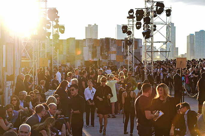 NEW YORK, NY - SEPTEMBER 11:  A general view of atmosphere at the Givenchy fashion show during Spring 2016 New York Fashion Week at Pier 26 at Hudson River Park on September 11, 2015 in New York City.  (Photo by Frazer Harrison/Getty Images)