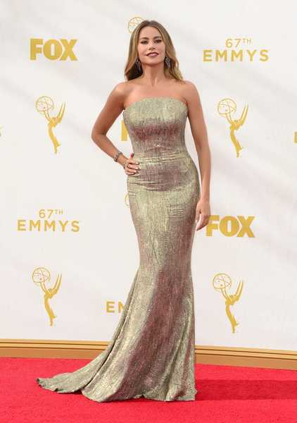 epa04941773 Sofia Vergara arrives for the 67th annual Primetime Emmy Awards held at the Microsoft Theater in Los Angeles, California, USA, 20 September 2015. The Primetime Emmy Awards celebrate excellence in national primetime television programming.  EPA/PAUL BUCK