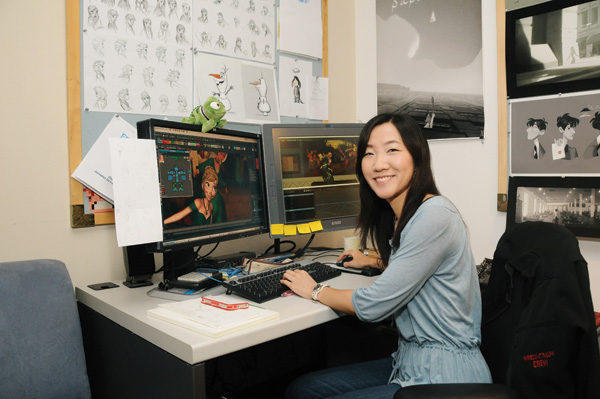 """""""FROZEN"""" (Pictured) Animator Hyun-Min Lee. Photo By: Araya Diaz. ©2013 Disney. All Rights Reserved."""