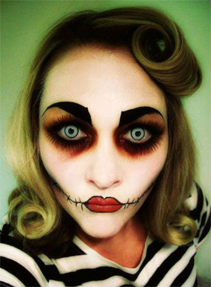 hall 1 15-Scary-Doll-Halloween-Make-Up-Looks-Ideas-Trends-2014-For-Girls-2