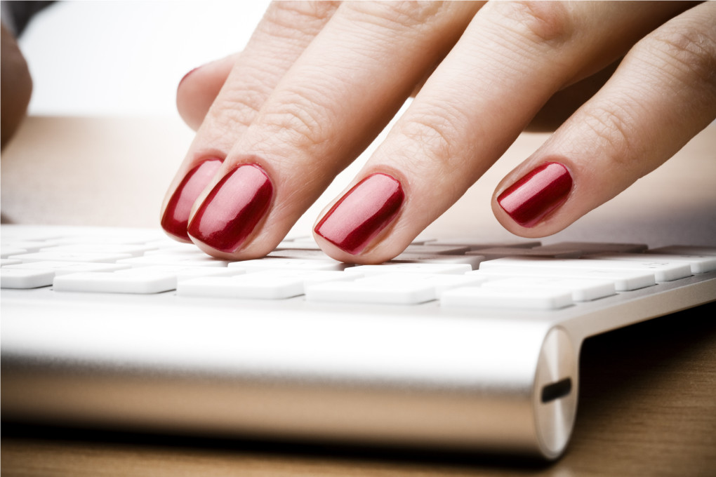 red-nails-on-keyboard