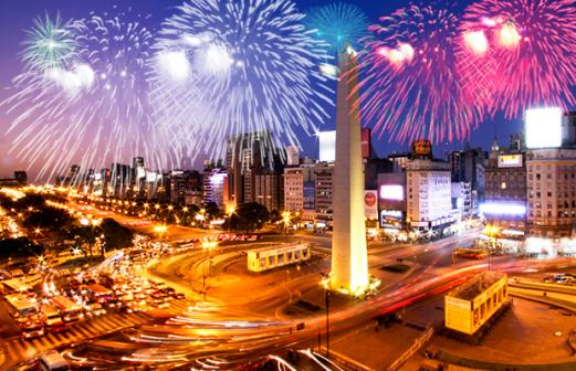 Não perca a queima de fogos no Réveillon da capital Argentina