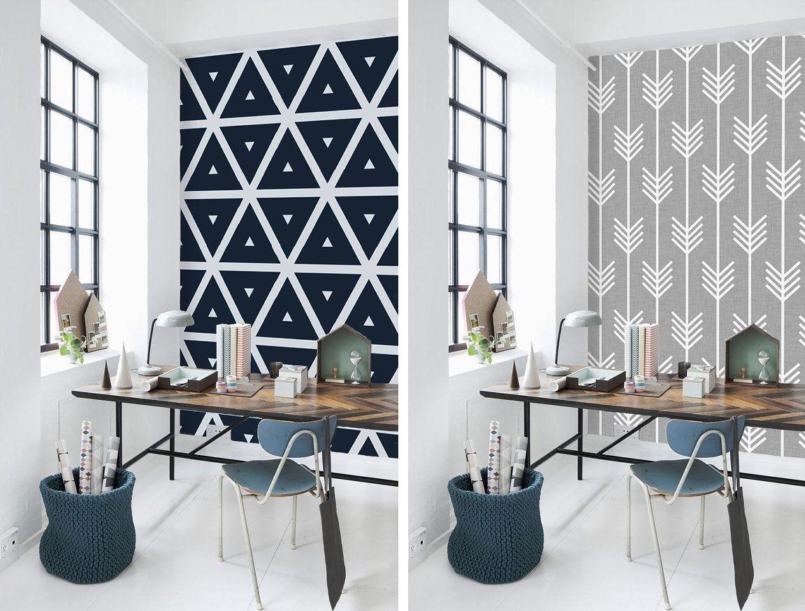 Como decorar sua casa usando papel de parede - Escritorio de pared ...