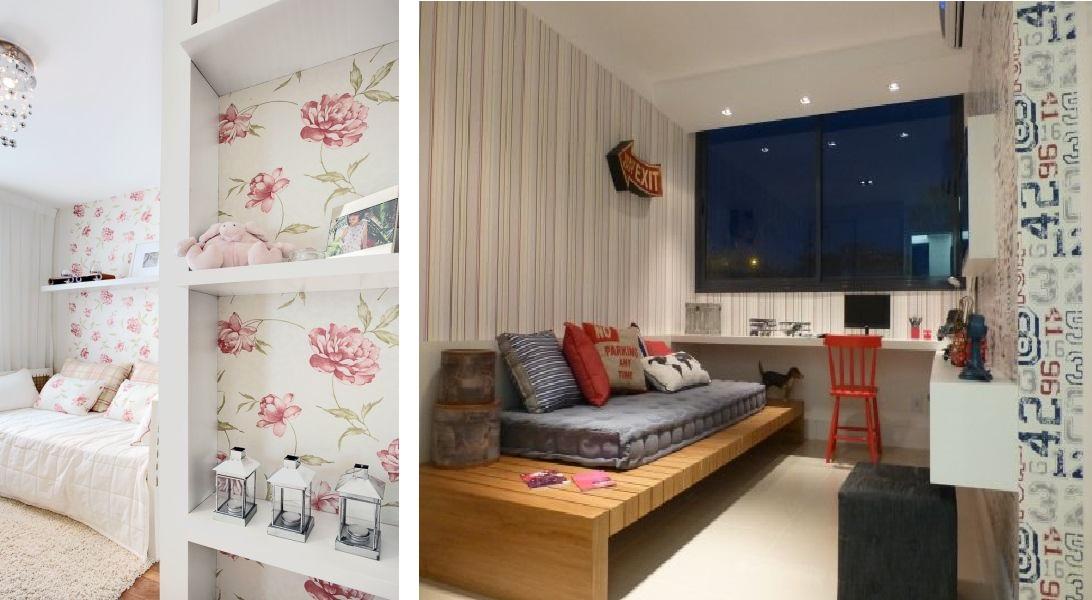 Como decorar sua casa usando papel de parede ~ Quarto Amarelo Jovem