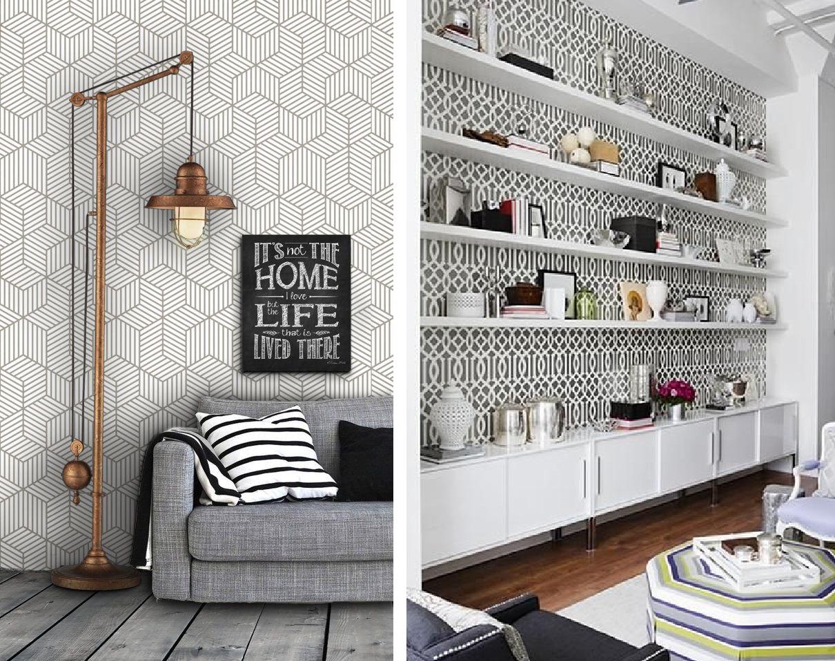 Como Decorar Sua Casa Usando Papel De Parede Fabiana Scaranzi -> Papel De Parede Para Sala Como Fazer