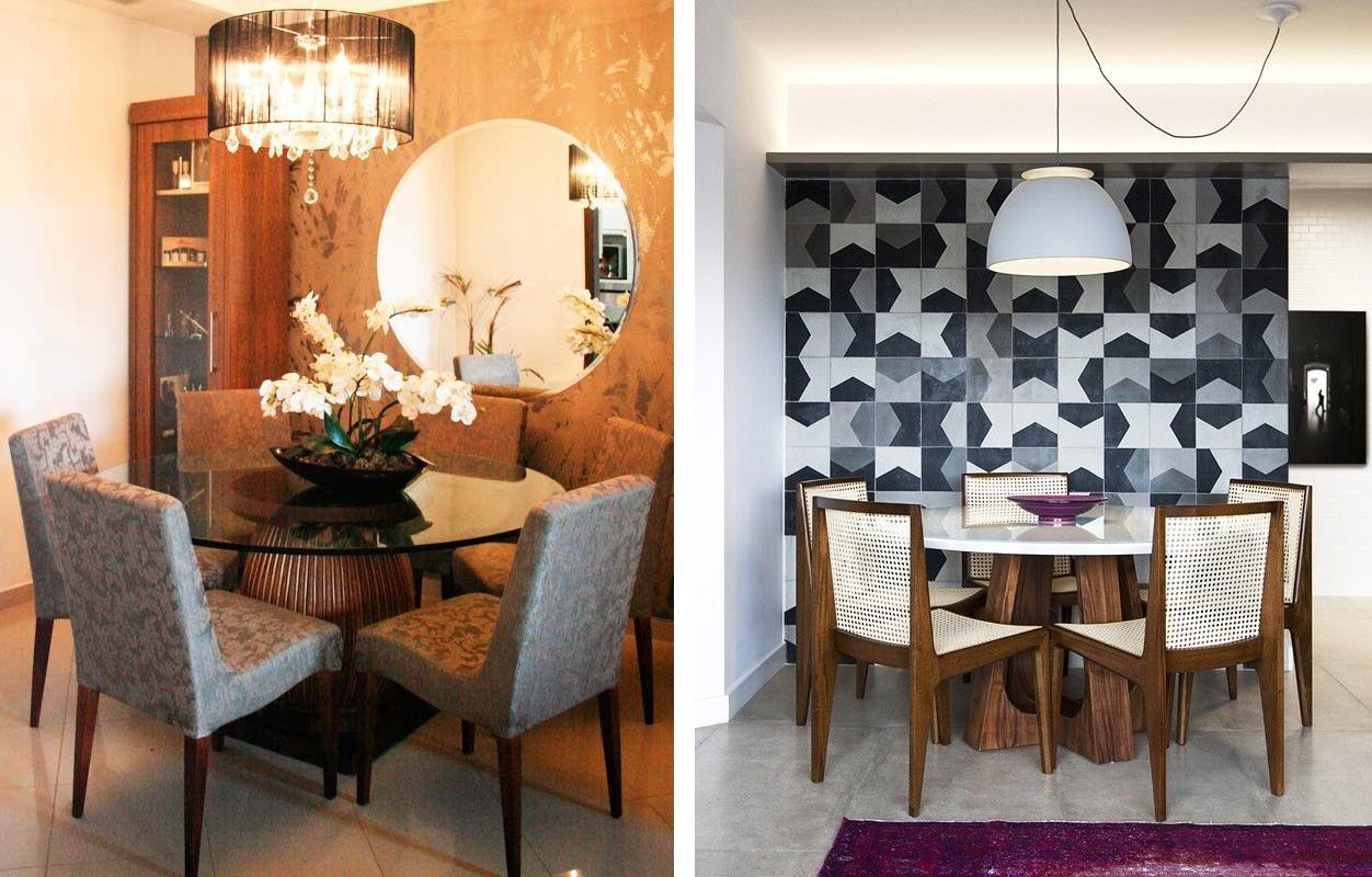 Como Decorar Sua Casa Usando Papel De Parede Fabiana Scaranzi -> Decoracao Sala De Jantar Azul