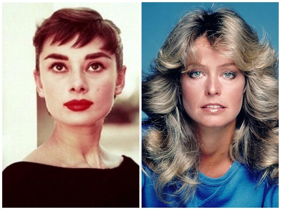 Audrey Hepburn e Farrah Fawcett