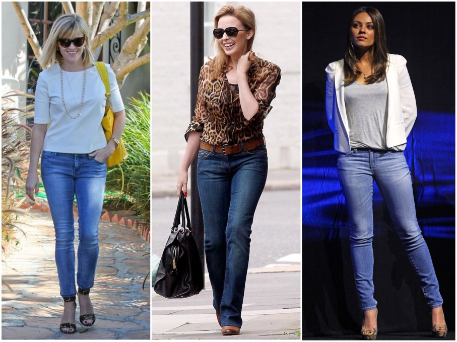 Reese Witherspoon (1m56), Kylie Minogue (1m52) e Mila Kunis (1m63)