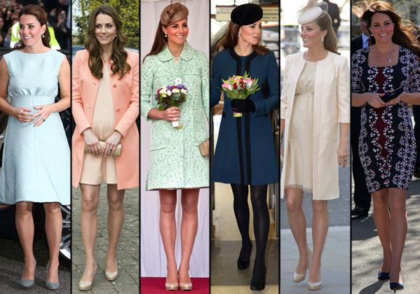 Kate Middleton é exemplo de elegância durante a gravidez