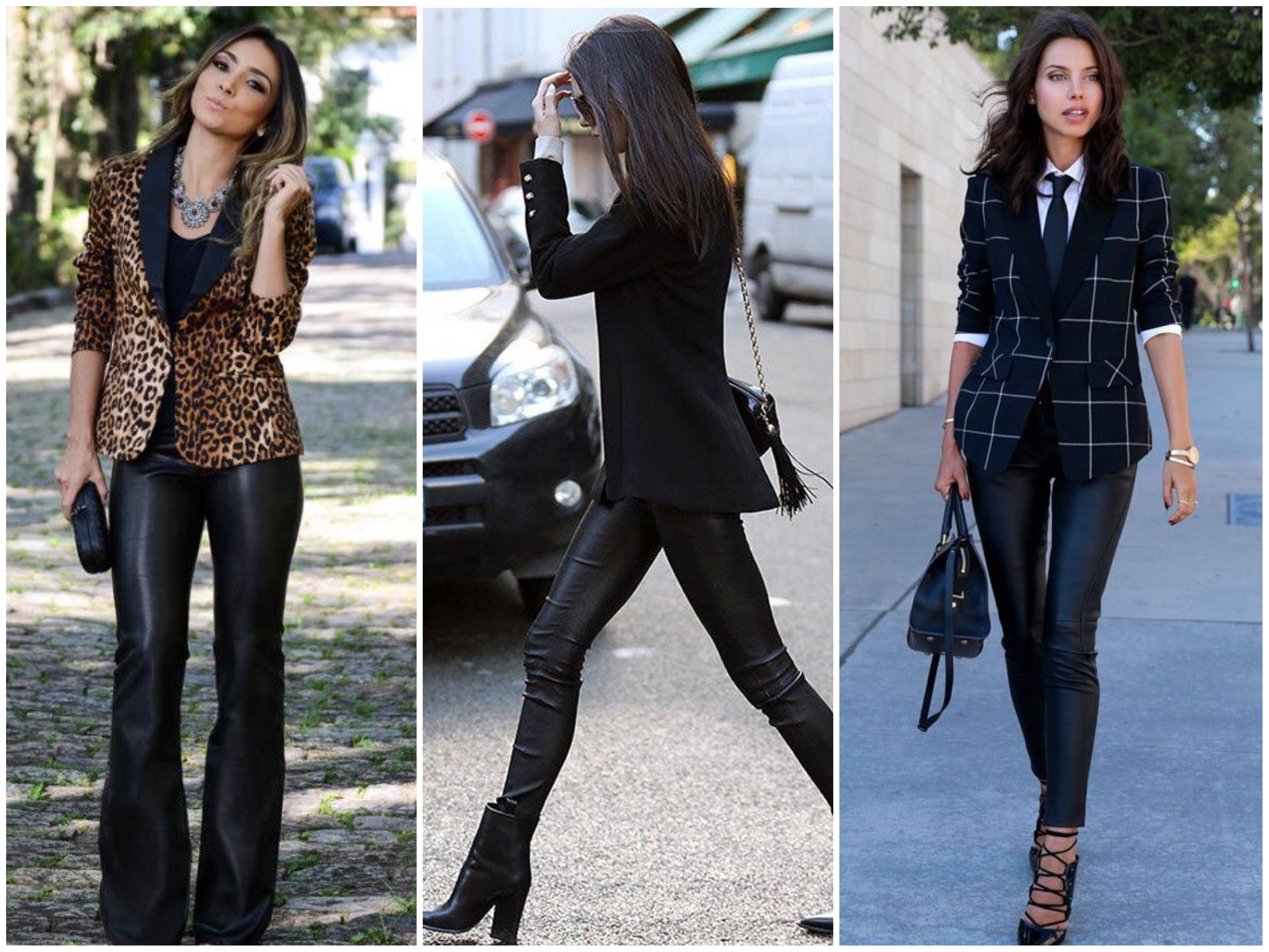 44918e90b Muitas lojas têm modelos de calça de couro lindas, é só garimpar. As opções  vão desde Riachuelo, Renner e C&A, até as mais caras, como Zara, Le Lis  Blanc, ...