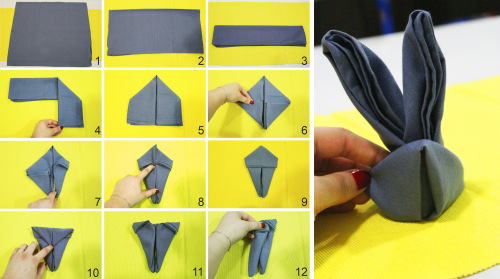 how-to-fold-napkin-as-bunny