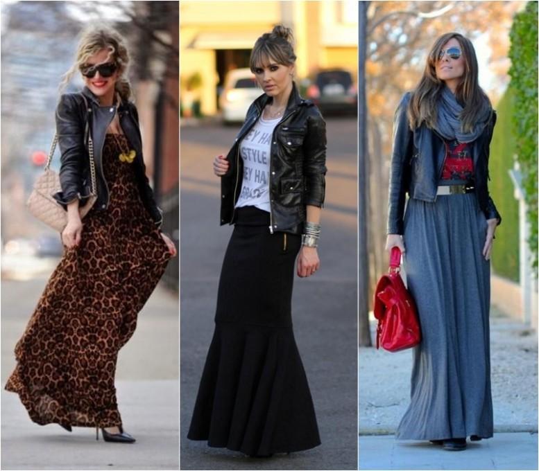 Looks com vestidos e saias no inverno