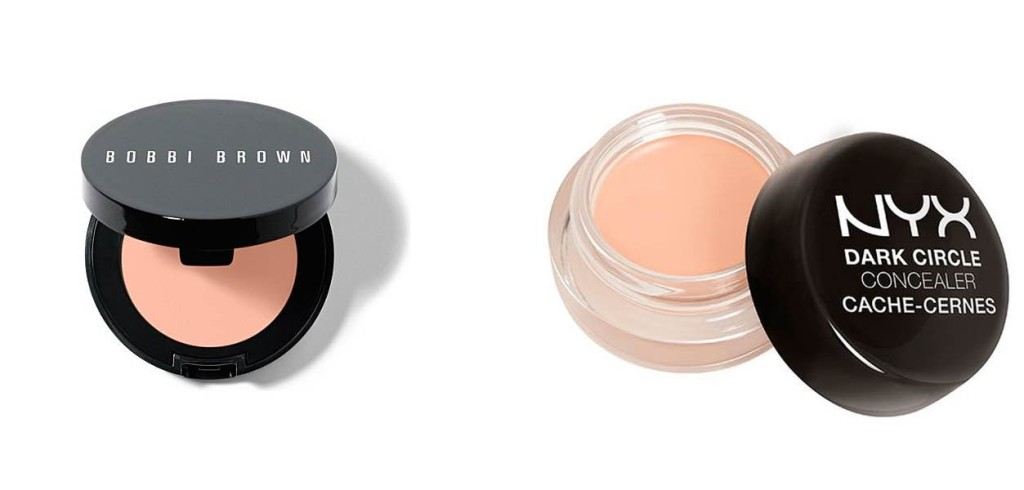 Bobbi Brown Creamy Corrector - $ 30 e  NYX Concealer in Pink - $ 110