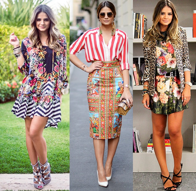 A it-girl Thassia Naves sabe bem como misturar as principais estampas da moda