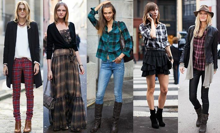 look vestido xadrez moda feminina[2]
