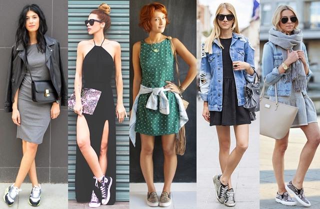 vestido-com-tênis-fashion