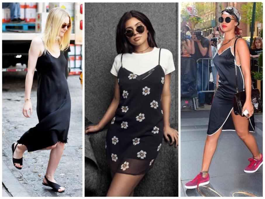 Camisolas caem muito bem no dia-a-dia, como nos looks de Dakota Fenning, Kylie Jenner e Rihanna