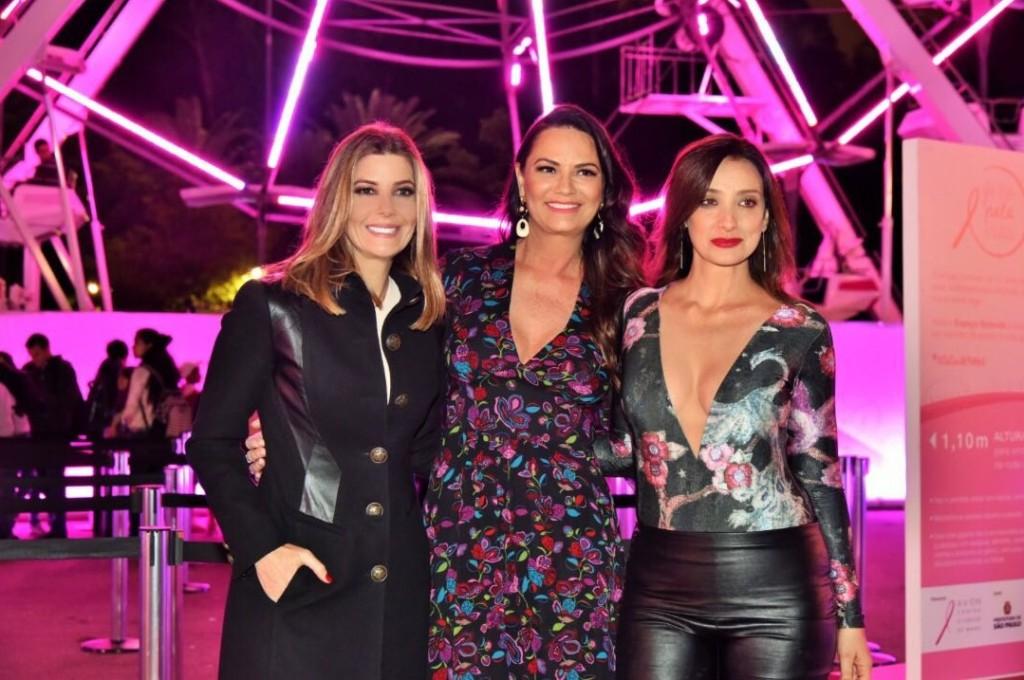 """Com a embaixadora da campanha """"Giro Pela Vida"""", Luiza Brunet e a apresentadora Sabrina Parlatore. (Foto: Rodrigo Jacob/grafias)"""
