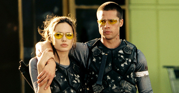 """Jolie e Pitt no set de """"Sr. e Sra. Smith"""", onde tudo começou!"""