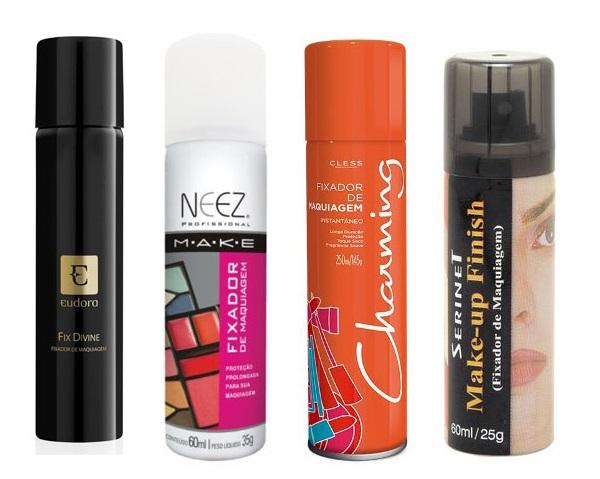 5. Eudora Fix Divine (R$ 45) 6. NEEZ Fixador de maquiagem (R$ 13,68) 7. Charming Fixador de maquiagem (R$ 32,90) 8. Serinet Make-up finish (R$ 13,55)