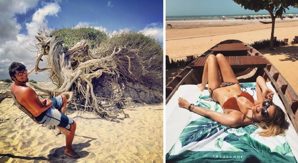 Os atores Bruno Gissoni e Julia Faria escolheram Jericoacoara para curtir alguns dias de descanso!