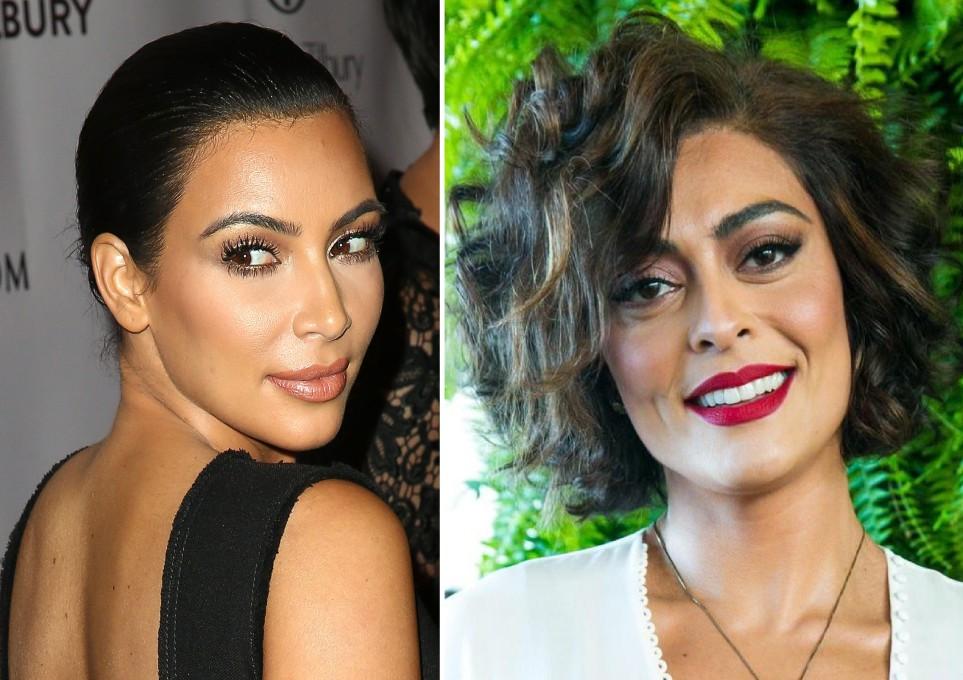 A maquiagem de Kim Kardashian