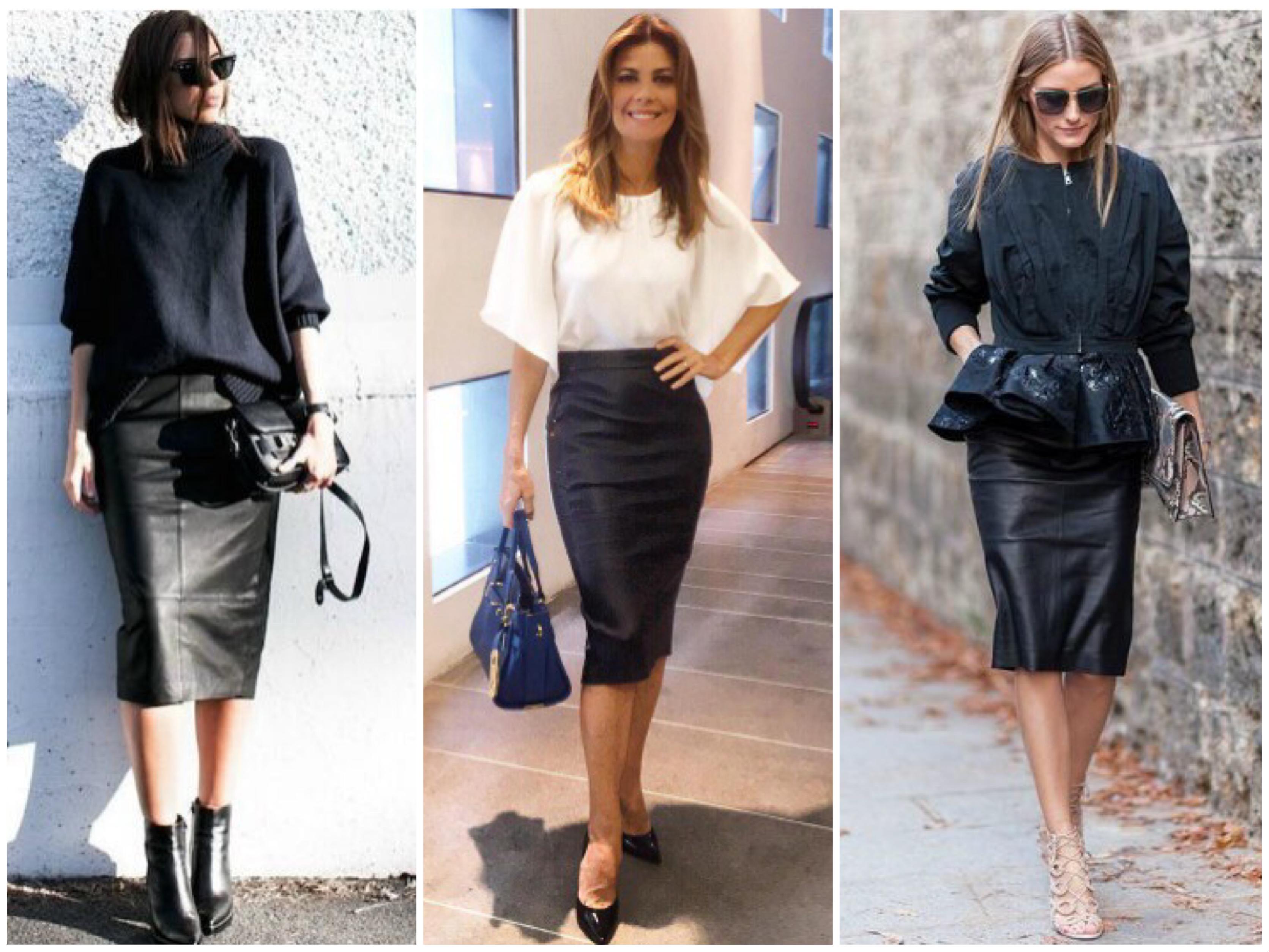 6df962caf Aprenda como usar saia de couro a qualquer momento do dia
