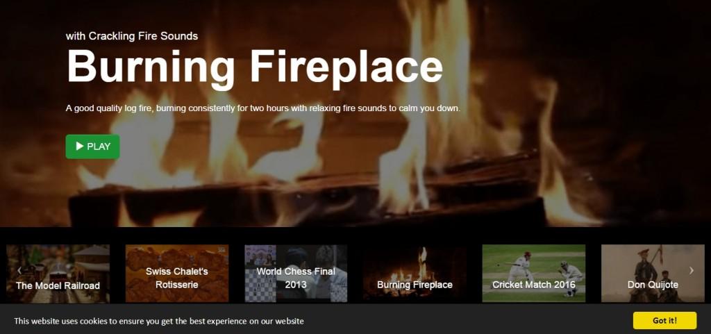 Duas horas acompanhando o movimento do fogo em uma lareira ou diversas outras opções bem tediosas
