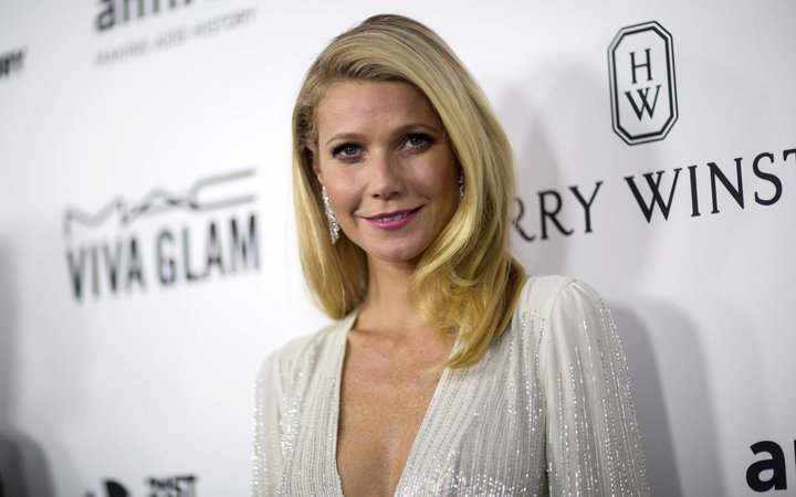 Actress Paltrow poses at the 2015 amfAR Inspiration Gala in Los Angeles