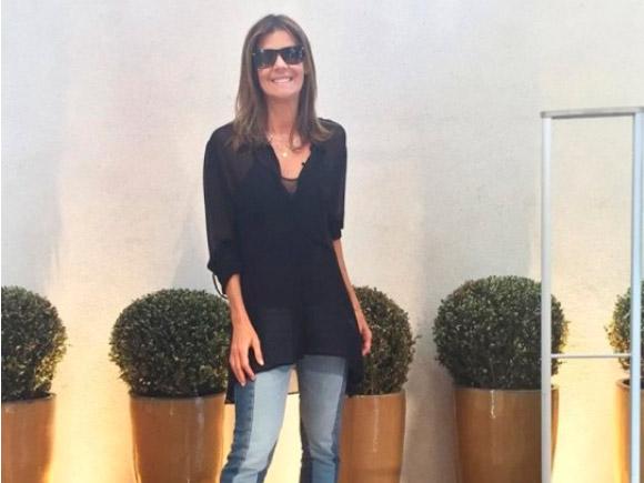 Fabiana Scaranzi usando Jeans
