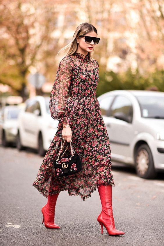 moda - vestido com bota foto de dentro 1