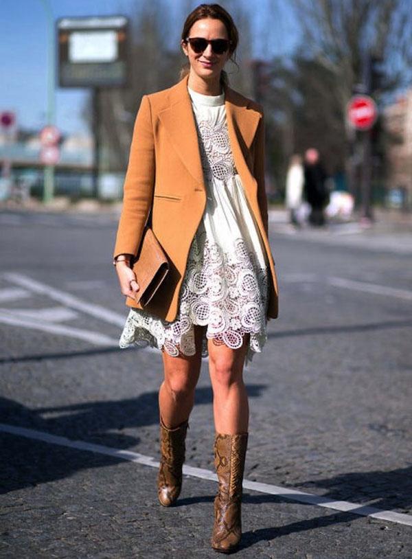 moda - vestido com bota foto de dentro 2