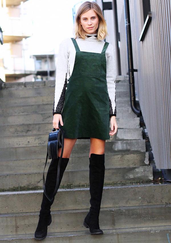 moda - vestido com bota foto de dentro 6